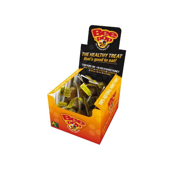 BeePower brand Bee-Pop Honey Lollipops (Pack of 10)
